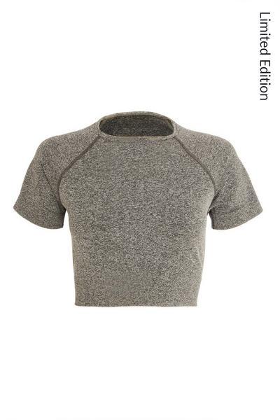 Grey Seamless Crop Top
